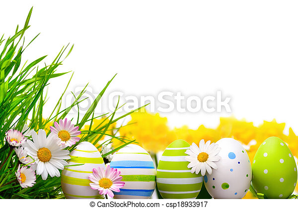 Easter eggs arrangement - csp18933917