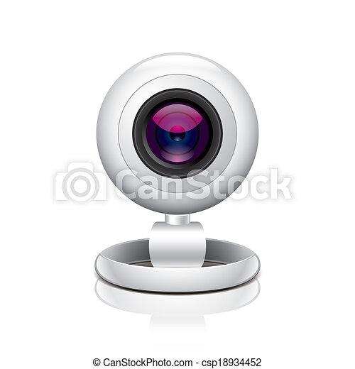 White webcam vector illustration - csp18934452