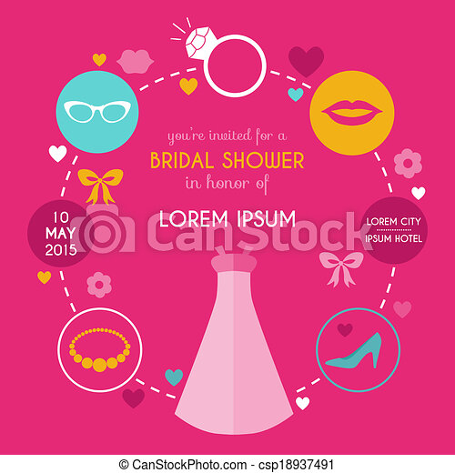 Bridal Shower Icon Vector Wedding Bridal Shower