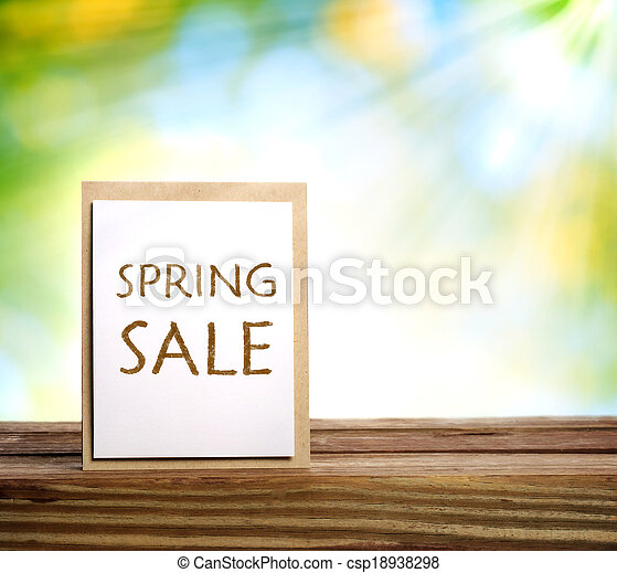 Spring Sale sign - csp18938298