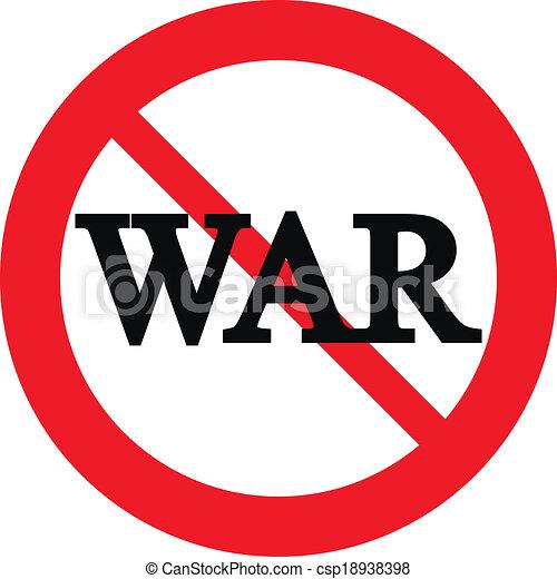 No war sign - csp18938398