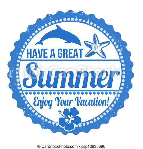 Have a great summer stamp - csp18938696