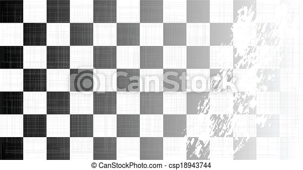 Chequered Flag Grunge - csp18943744