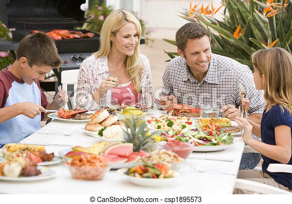 Family Enjoying A Barbeque - csp1895573