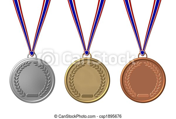 set of sports medals isolated - csp1895676