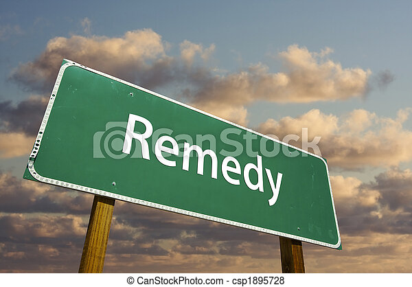 Remedy Green Road Sign - csp1895728