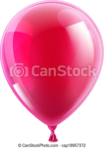 Pink birthday or party balloon - csp18957372