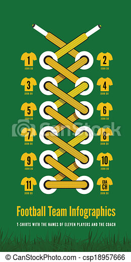 Infographic Ideas infographic soccer : Clip Art Vector of Shoelace as a football or soccer infographic ...