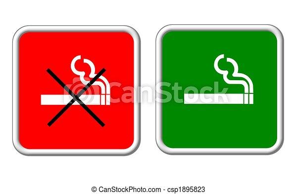 sign smoking allowed forbidden - csp1895823