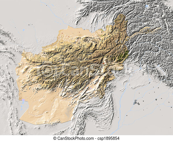 Drawing of afghanistan shaded relief map afghanistan shaded relief