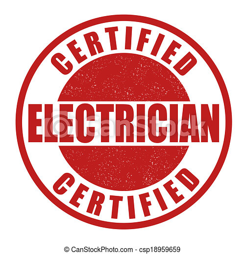 Certified electrician stamp - csp18959659