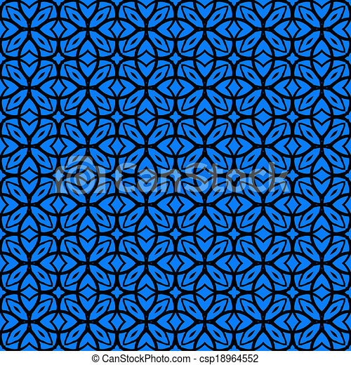 Vector art deco pattern with lacing shapes - csp18964552