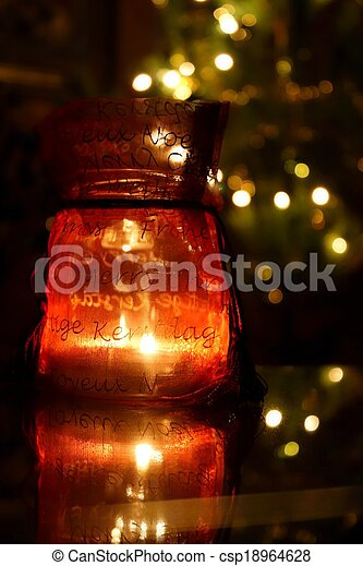 Candle inside the bottle