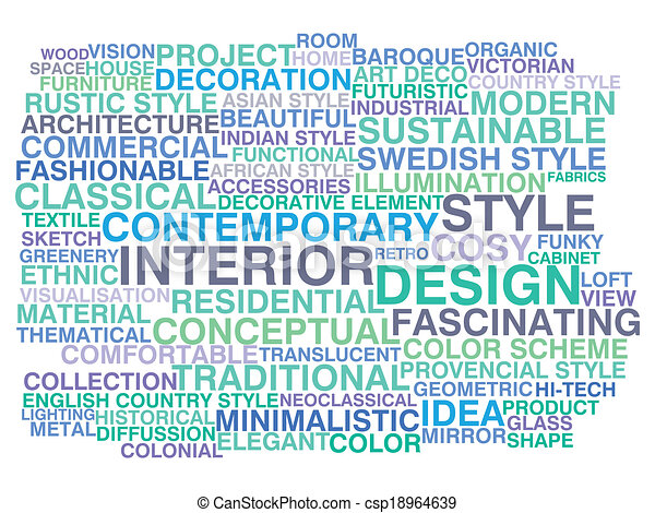 interior design word cloud concept csp18964639