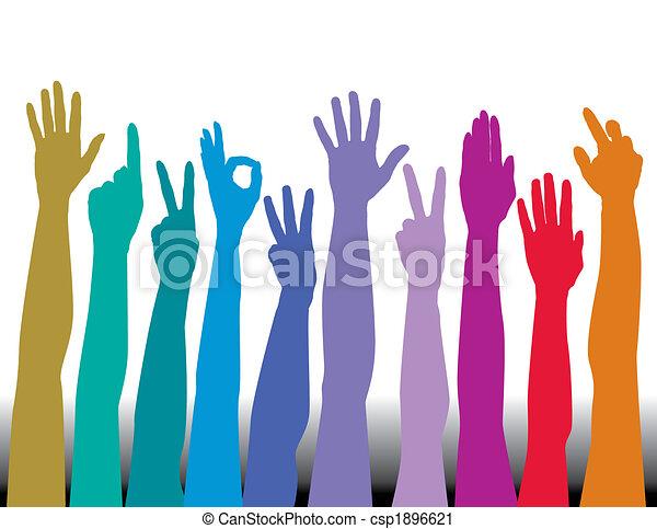 Hands of all races - csp1896621