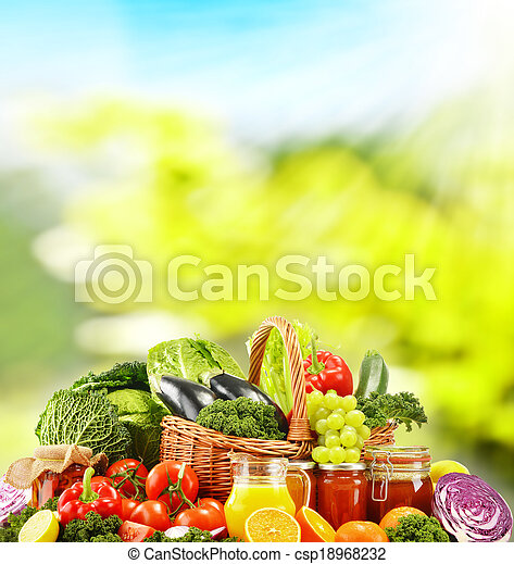 Balanced diet based on raw organic vegetables - csp18968232