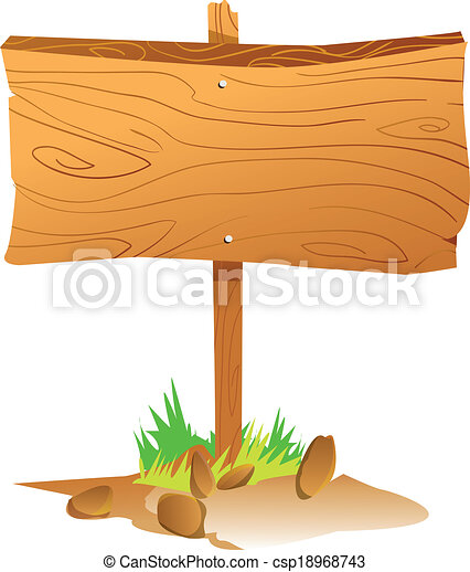 EPS Vector of Wooden Sign Board - Vector illustration of ...