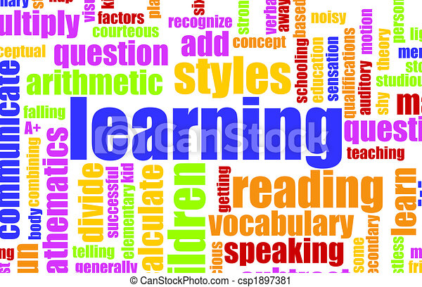 Clipart of Learning is Fun Vocabulary Elementary School Art ...