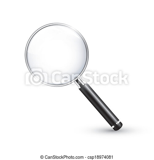 Magnifying glass realistic detailed - csp18974081