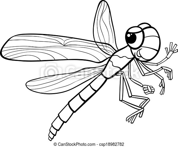 Dragonfly Insect Coloring Page 18982782