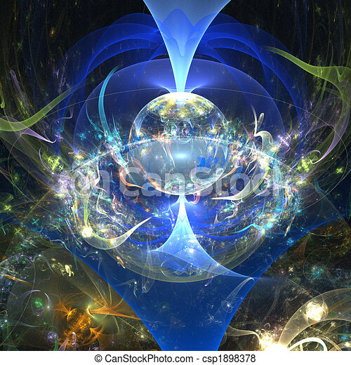 fantasie, Welt - csp1898378