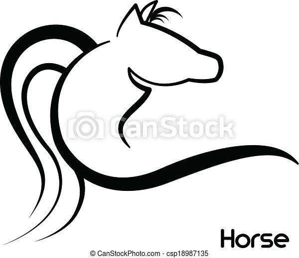 Horse logo vector - csp18987135