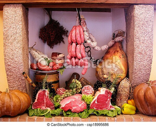 Cold cuts and meat composition - csp18995686