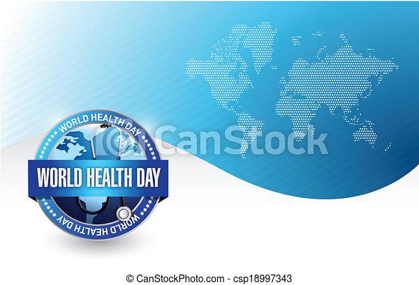 world health day illustration design - csp18997343