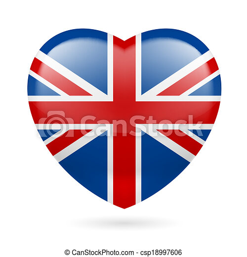 Heart icon of United Kingdom - csp18997606