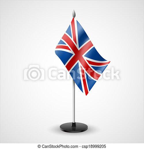 Table flag of United Kingdom - csp18999205
