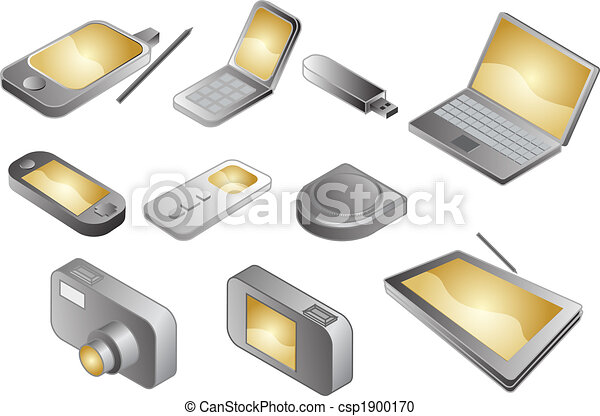 Various electronic gadgets, illustration - csp1900170