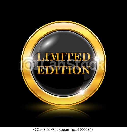 EPS Vector of Limited edition icon - Golden shiny icon on ...