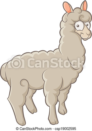 Clip Art Alpaca Clip Art eps vectors of alpaca color funny character fluffy vector alpaca