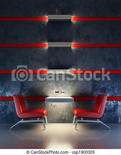 lounge room interior - csp1900305