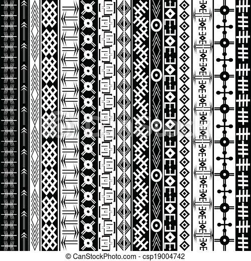 Vecteur eps de fond ethnique texture g om trique noir motifs csp19004742 recherchez - Coussin ethnique noir et blanc ...