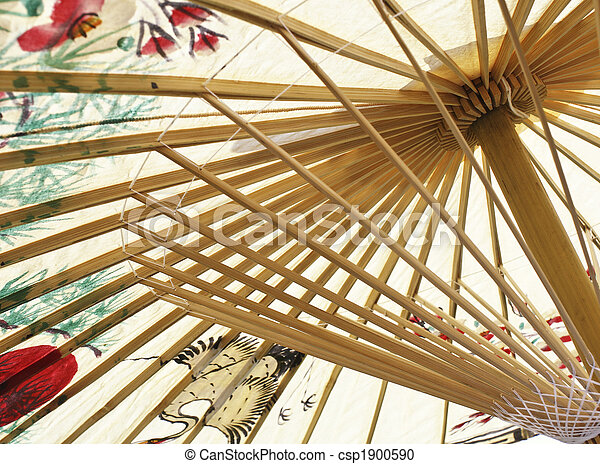 asian umbrella closeup - csp1900590