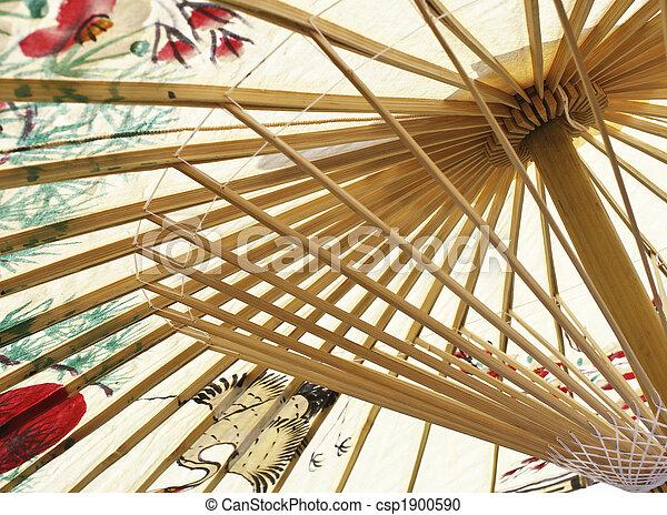 asian umbrella closeup - csp1900590