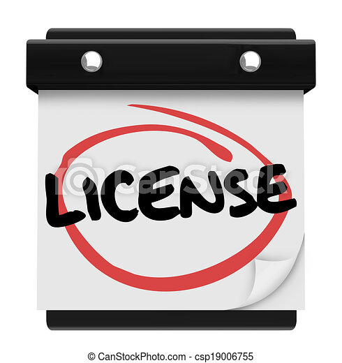 Stock Illustrations of License Word Reminder Calendar Due ...
