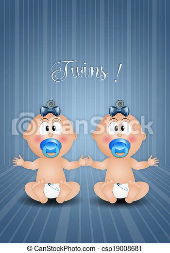 Twin boys Stock Illustration Images. 791 Twin boys illustrations ...