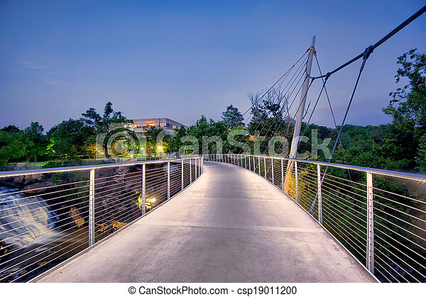 Footbridge at Falls Park - csp19011200