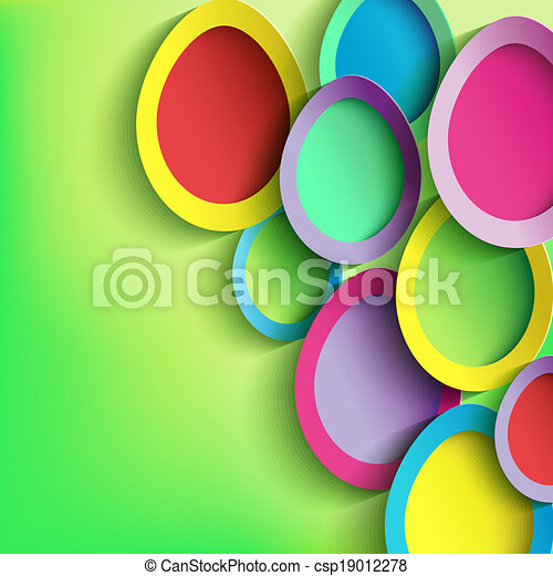 Abstract background with colorful Easter egg - csp19012278