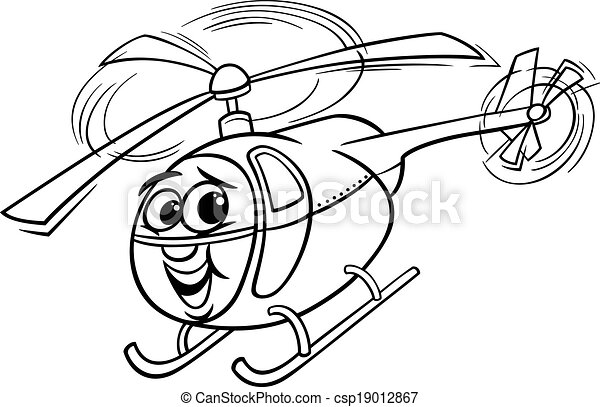 Chopper Helicopter Drawing Vector Helicopter Cartoon