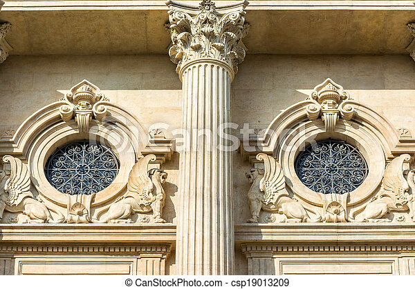 Neoclassic Architecture Detail With Corinthian Column