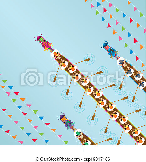 - Chinese Dragon Boat competition - stock illustration, royalty free ...
