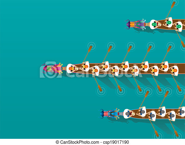 Chinese Dragon Boat competition ill - stock illustration, royalty free ...