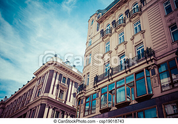 Traditional architecture in Vienna, Austria.