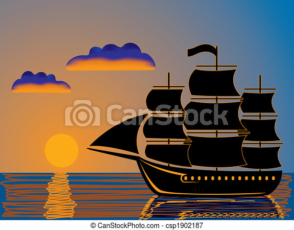 sunset sail - csp1902187