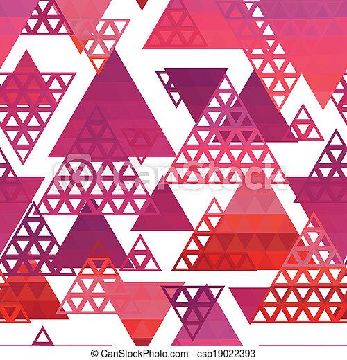 Retro pattern of geometric shapes - csp19022393