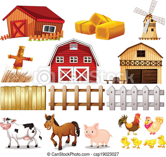 Things and animals found at the farm - csp19023027