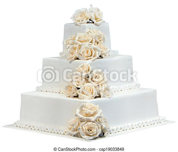 Wedding Cake Cutout - csp19033849